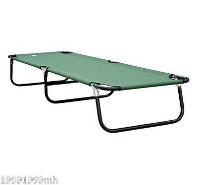 """Outsunny 75"""" Portable Military Cot Folding Camping Sleeping Bed Outdoor Hiking"""