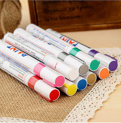 12 Colors Fine Paint Oil Based Art Marker Pen Metal Glass Waterproof Varnish Set