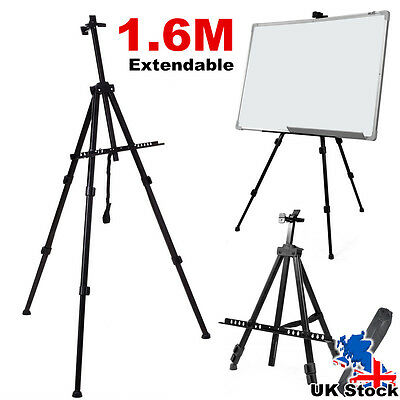 Artist Field Studio Folding Telescopic Painting Tripod Easel Stand W/ Carry Bag