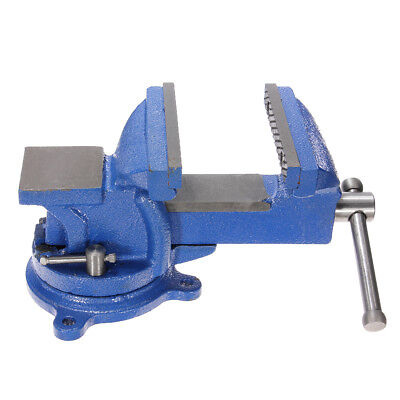 """5"""" Bench Vise Clamp Swivel Locking Base Bench Table Top Anvil Heavy Duty Steel"""
