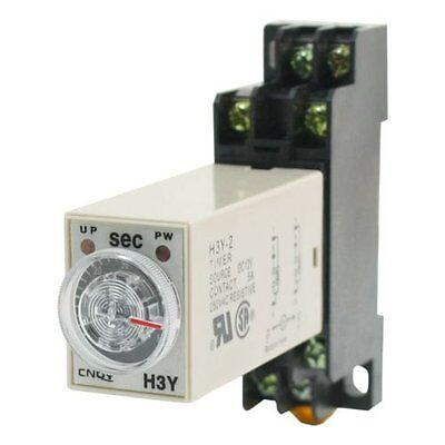 H3Y-2 AC220V Delay Timer Time Relay 0 - 3 Seconds with Base