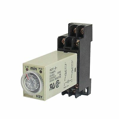 H3Y-2 AC220V Delay Timer Time Relay 0 - 3 Minute with Base