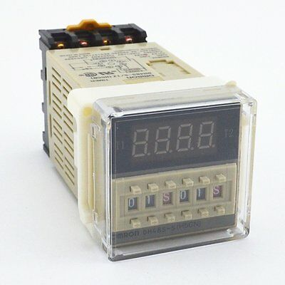 AC 220V Programmable Time Delay Relay DH48S-S With Socket Base