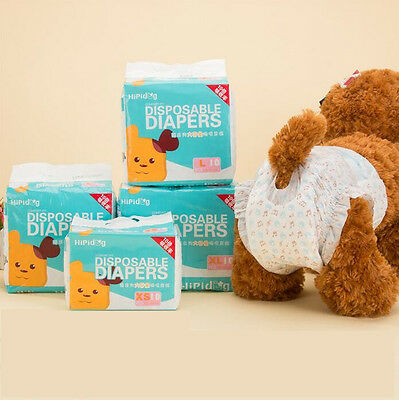 10PC Simple Solution Disposable Dog Diapers Sanitary Pet Dog Physiological Pants