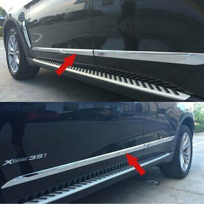 Chrome Car Body Side Door Molding Trim Overlay Cover For BMW X6 2015 2016 2017