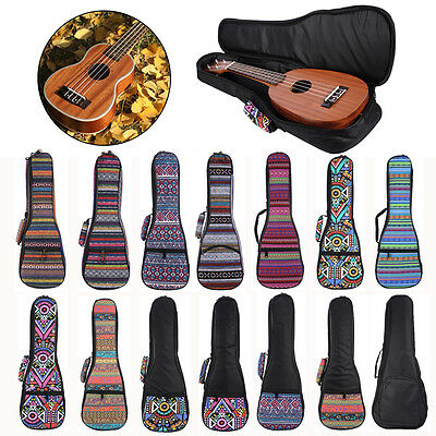 Portable 21''/23''/26'' Oxford Ukulele Uke Shoulder Carry Bag Soft Padded Case