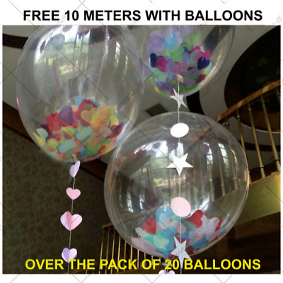 10-100 Transparent & Clear Balloons For Wedding Anniversaries Birthday baloons
