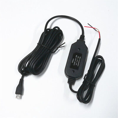 Hard Wire Power Adapter 12v to 5v Cord Cable MiniUSB For Car GPS DVR Dash Cam