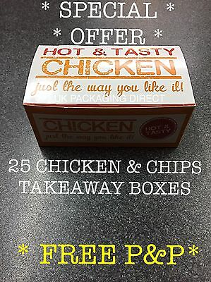 Chicken Chips Boxes Cheap Offer Wings Dixy KFC Packaging Food Chippy Takeaway