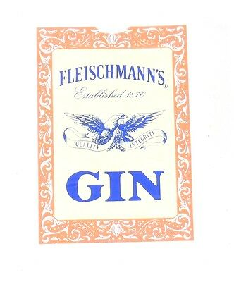 Fleischmann's GIN Established 1870 PLAYING CARDS Card Deck Sealed
