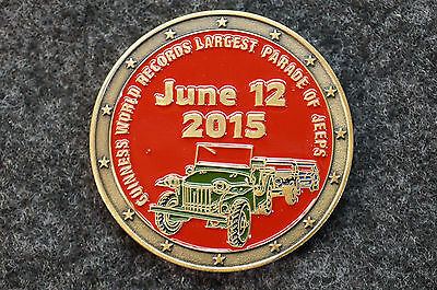 2015 Guinness World Records Largest Parade of Jeeps Medal Coin 75th Birthday
