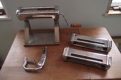Imperia R220 Artisan Pasta Maker/ Cutter -- 3 Different Cutters & Stainless Base