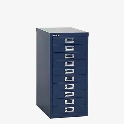 Bisley - 10 Multi Drawer Filing Cabinet - Brand  New - Oxford Blue