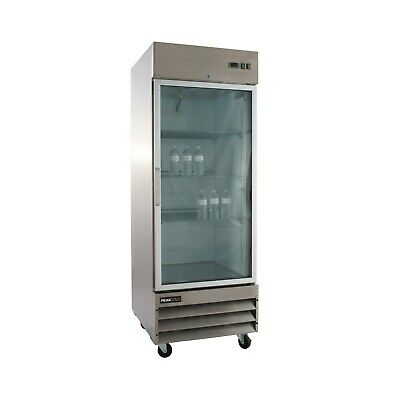 Glass Door Commercial Stainless Steel Refrigerator CFD-1RRG (Free Shipping)