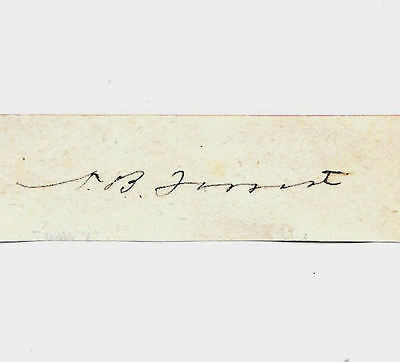 Nathan Bedford Forrest Autograph Reprint On Genuine Original Period 1860s Paper