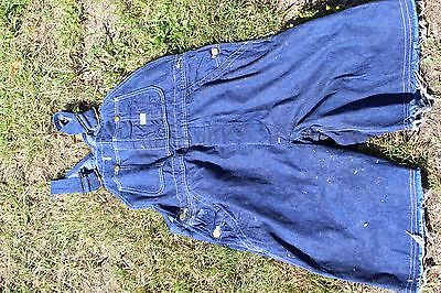 Vintage Lee Dark Blue Denim Cutoff Overalls