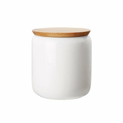 NEW Maxwell & Williams White Basics Canister w/ Bamboo Lid 900ml