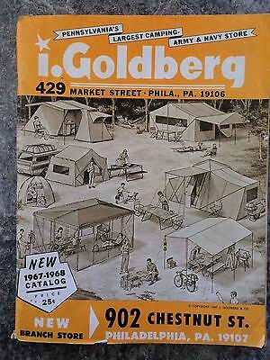 Vintage 1967/68 I Goldberg Army Navy Store Catalog   Camping Sporting Goods