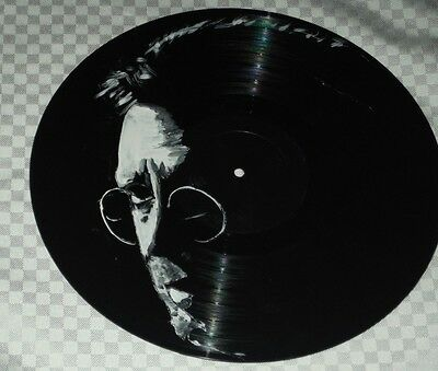 Eric Clapton..cream  Hand Painted  12 Ins Vinyl Discs  Ready To Hang