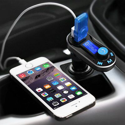 Bluetooth FM Transmitter TeckNet MP3 Player Hands-free Car Kit Charger, Dual USB