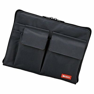 LIHIT LAB Bag-In-Bag (Laptop Sleeve), Black, 7.1 x 9.8 Inches (A7553-24) ASAP