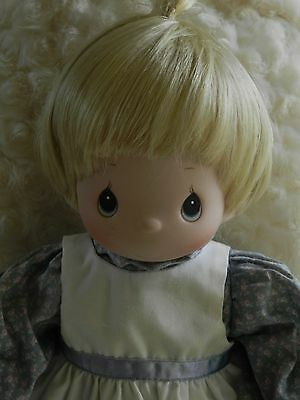 Precious Moments  Porcelain Doll Blonde Beauty. with Doll Stand  Nice condition