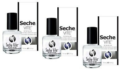 SECHE VITE Dry Fast Top Coat Professional 14 mL / 0.5 fl oz x 3