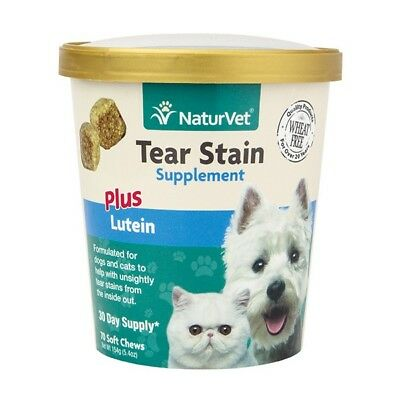Naturvet ​Tear Stain Remover plus Lutein Supplement Dogs & Cats 70 Soft Chews