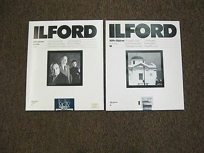 Ilford multigrade lV RC pearl 11 X 14 black & white  multigrade II & IV 2 pkgs