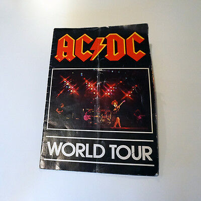 "AC/DC Tour Program 1980 ""Back In Black"" North American Tour"