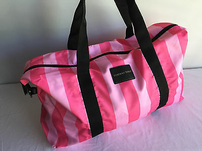 Victoria's Secret Beach bag duffle bag gym bag striped inside removable pocket