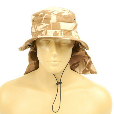 Original British Military Desert Booney Hat with Neck Protector 7.50 US (60cm)