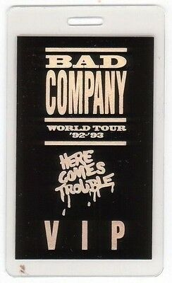 BAD COMPANY PASS backstage tour laminate collectible VIP 92