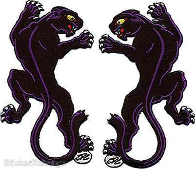Panther Embroidered Patch Iron On Art Dan Collins DCP6 Pair Set Of Two