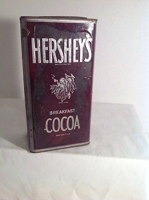 Vintage Hershey's Cocoa Hershey Chocolate Cocoa Antique Tin Can Container