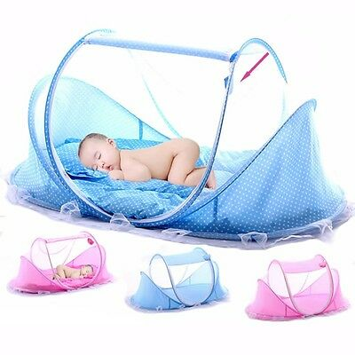 Baby Mosquito Net Music Bag Bed Crib Canopy Pillow Tent Foldable Travel Tent New