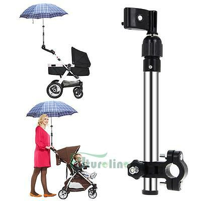 Useful Baby Buggy Pram Bicycle Stroller Umbrella Bar Holder Mount Stand Handle