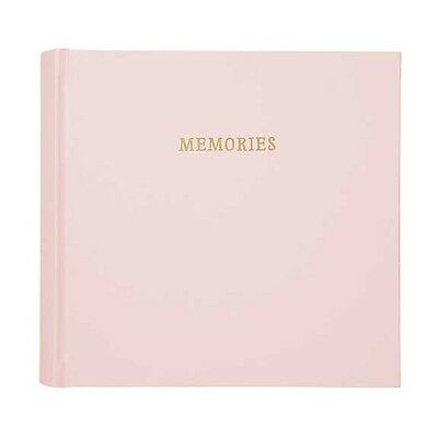 C.R. Gibson Baby Girl Slim Bound Leather Photo Journal Album – Pink BP1-18284