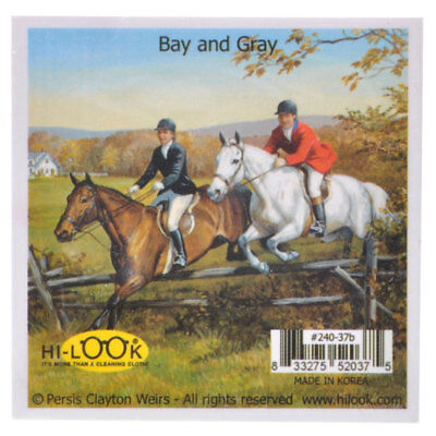 NEW Bay and Grey Horses Microfiber Glasses Cleaning Cloth Cleans Mobile Device S