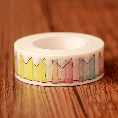 Colourful Crown Washi Sticky Paper Masking Adhesive Tape Fo Scrapbooking Sticker