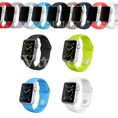 Replacement Silicone Wrist Bracelet Sport Band Strap For Apple Watch 38/42 US