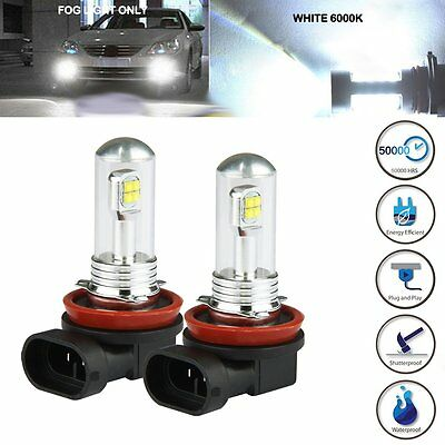 H8 H11 High Power 6000K 80W LED Cree Projector Fog Driving DRL Light Bulb White