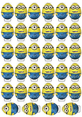 24 MINIONS Easter Egg STAND UPS STANDUP Easter Sunday Edible Cup Cake Toppers