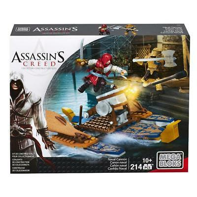 Assassins Creed Mega Bloks Naval Cannon 214Pc Play Set Toy