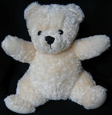 """DEX Mommy HEARTBEAT Womb SOUNDS Baby SOOTHER Plush TEDDY Bear CRIB Toy 11"""""""
