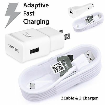 OEM Samsung Adaptive Fast Rapid Charger Cable Galaxy Note 4 5 S5 S6 S7 Edge NEW