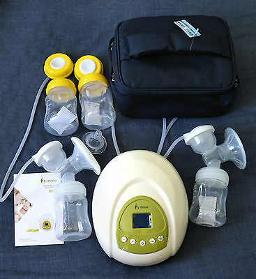 Nibble Electric Double Breast Pump - Hospital Grade - Deluxe Ergonomic Kit