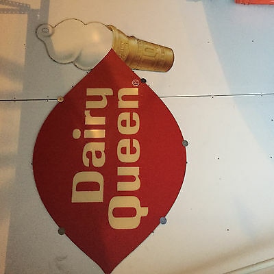1990's vintage old style Dairy Queen Sign face w cone smaller size Pick up only