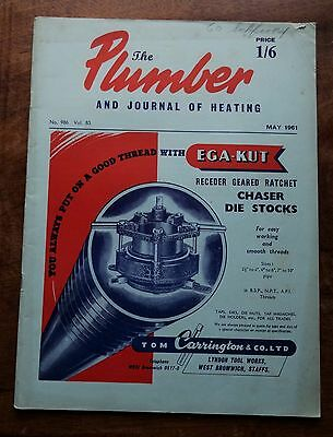The Plumber and Journal of Heating (May 1961) Vintage Trade Magazine