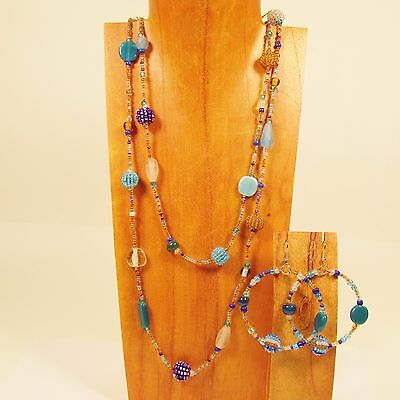 8PC Handmade Beaded Boho Vintage Necklace & Earring Set WHOLESALE LOT 4 Colors